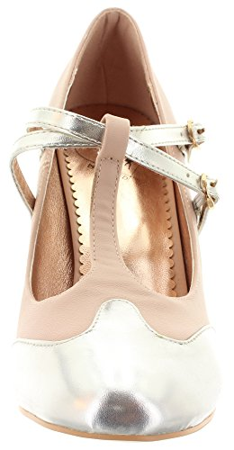 Dancing Days - Chiusura a T Donna Blush-Silver