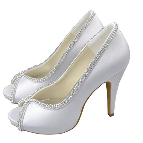 Blanc Minitoo Semelle compensée blanc femme RrRqwOt