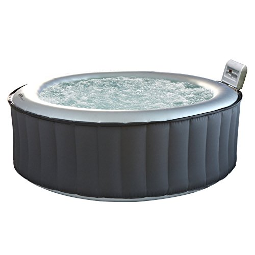 Happy Garden Spa rond gonflable SILVER CLOUD - 4 places - anthracite/intérieur gris