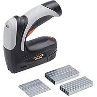 Meister Akkutacker MET36ME - 30 Arbeitsgänge pro Minute - Zur Verarbeitung von Klammern (Typ 53) & Nägeln (Typ 47) - Mit Auslösesperre - Inkl. 2000 Klammern & 500 Nägel / Universal-Tacker / 5459600