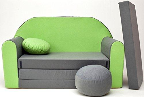 Kindersofa Spielsofa Minicouch aus Schaum Kindersessel Kissen Matratze Farbwahl (41)