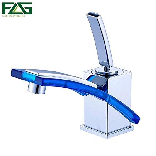 Glas-waschtisch Kommode (Petrichore Lange Auslauf Waschbecken Wasserhahn mit warmen und kalten Wasserhahn verzinktem Messing Glas Kommode 249-11)