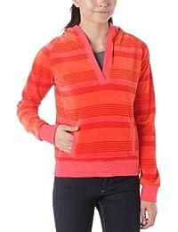 Dorotennis Happy - Sweat-shirt à Capuche Sport - Rayé - Velours - Femme