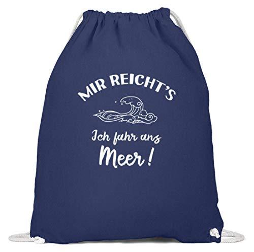 shirt-o-magic Strand: Ich fahr ans Meer! - Baumwoll Gymsac -37cm-46cm-Marineblau