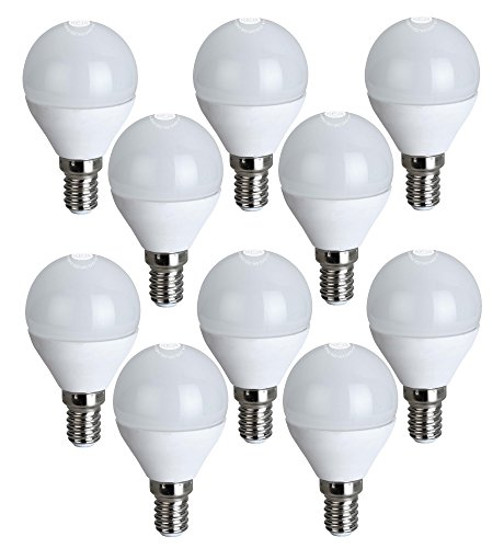 Preisvergleich Produktbild LED FACTORY 5W E14 LED Lampe,  Ersatz für 50W Glühlampen,  400lm,  Warmweiß,  2800K,  270° Abstrahlwinkel,  LED Birne,  LED Leuchtmittel,  10er Pack