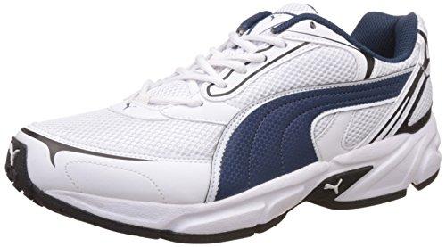 Puma Men's Aron Ind Puma White, Blue Wing Teal and Puma Running Shoes - 11 UK/India (46 EU)