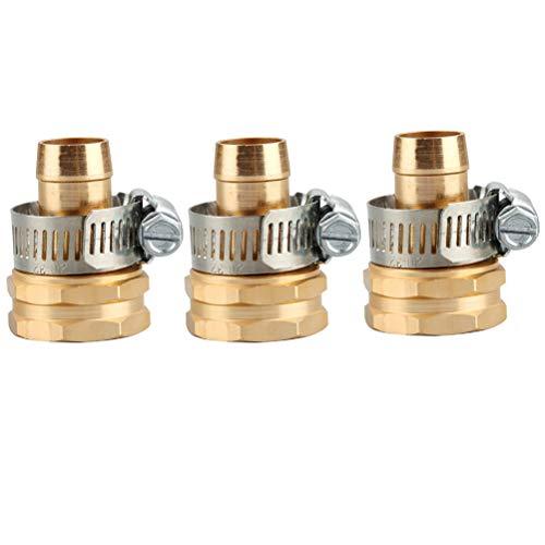 Preisvergleich Produktbild Yardwe 3 stücke Gartenbewässerungsrohrverbindungsstücke 3 / 4 Innen- und Außengewinde Kupferverbindung Metallverbinder