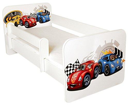 *Kleinkinder Bett mit gratis Matratze, Design-Cars*