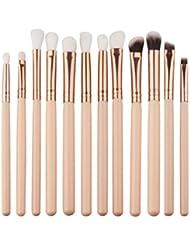 Angelof 12pcs Brosse Cosmétiques Maquillage Pinceaux Sets/Outils - Brosse de Maquillage