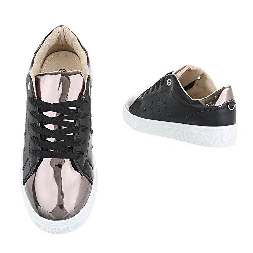 Ital-design - Zapatillas De Mujer Schwarz 061-y
