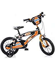 DINO BIKES BMX145XC 14 pouce KIDSBIKE boy vélo, bicyclette, enfant-velo, bécane, vélocipède, rouler en vélo, faire du vélo..noir..stabilisateurs 14pouce 3-6 ans 100-120cm