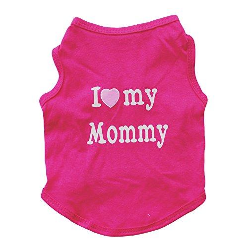 ghfashion Fashion Ärmellose Weste für kleine Hunde und Welpen, mit Aufschrift I Love My Daddy Mommy