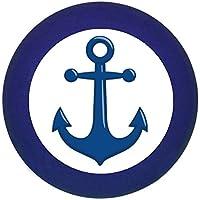 Möbelknopf Möbelgriff Möbelknauf Jungen hellblau dunkelblau blau Massivholz Buche - Kinder Kinderzimmer Anker dunkelblau maritim -