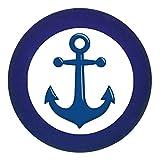Türknauf Möbelknopf Möbelgriff Möbelknauf Jungen hellblau dunkelblau blau Massivholz Buche - Kinder Kinderzimmer Anker dunkelblau maritim - dunkelblau