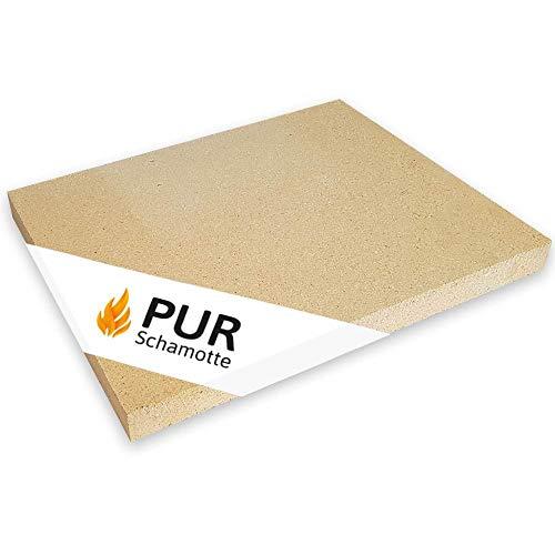 PUR Schamotte Schamottplatte 500 x 400 x 40 mm 1 Platte für - Für Schamottsteine Pizzaöfen