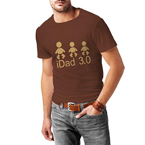 T-shirt pour hommes IDad 3 le meilleur papa jamais des cadeaux pour lui cadeaux de jour de père (Small Kaki Or)