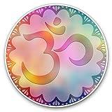 Impresionantes pegatinas de vinilo (juego de 2) 10 cm - Om Símbolo Mandala Flor Divertido...