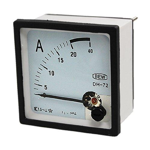 AC 0-20A Current Testing Analog Panel Meter Amperemeter, quadratisch -