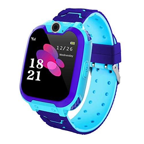Kinder Smartwatch 7 Spiele - Kids Smartwatch MP3 Musik - Touch Screen Smart Phone Watch mit Kamera Wecker Recorder Rechner, Scherzt Intelligente Uhr für Jungen Mädchen Geschenk 3-12 Ys(W/ 1G SD Card) - Musik-smartphone