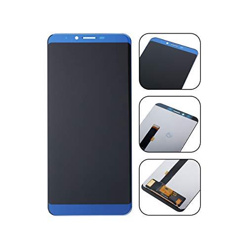 YHX-OU Für Cubot x18 Plus LCD Display Touchscreen Ersatz Bildschirm mit Komplett Werkzeug (Blau)