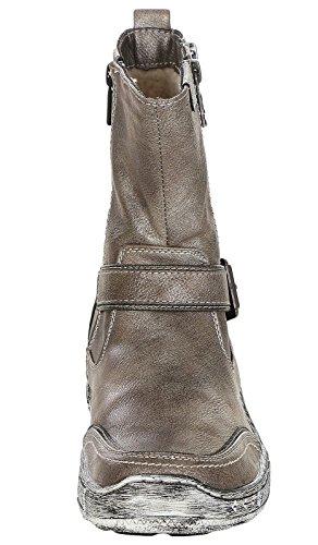 Mustang Damen Stiefel gefüttert Grau (Titan) Altsilber