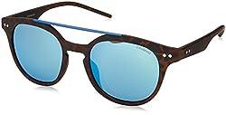 Polaroid Mirrored Round Unisex Sunglasses - (PLD 1023/S 202 51JY|51|Blue Color)