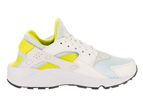 Nike, Donna, Huarache Run Sail, Pelle / Mesh, Sneakers, Bianco Bianco