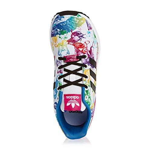 adidas Zx Flux W, Baskets Basses Femme Blanc
