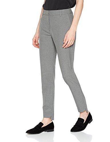 SELECTED FEMME Damen Hose SFAMILA Silver MW Pant, Grau (Light Grey Melange), 38