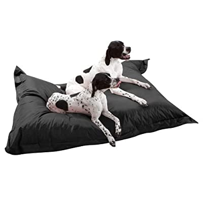 DogBagz GIANT Dog Bed 180cm x 140cm - 100% Water Resistant Dog Bean Bags BLACK - No Dog Too Big
