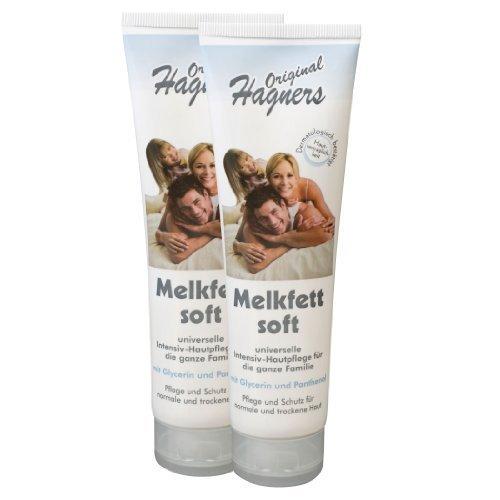 Original Hagners Melkfett soft 2 Tuben je 150 ml