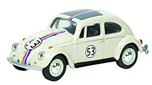 Schuco Dickie 452012800-VW Escarabajo Rallye Start Número 53Escala 1: 64, Color Blanco Perla