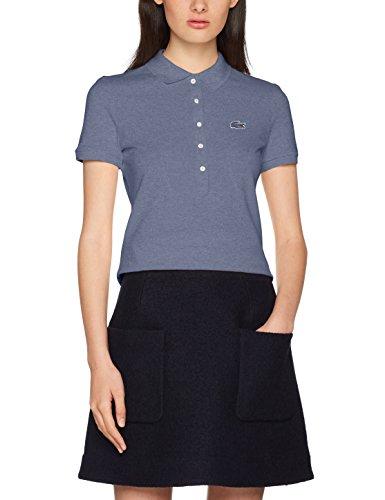 Lacoste Damen Poloshirt PF7845, Blau (Neptune Chine 4D3), 44(Hersteller Größe: 46)
