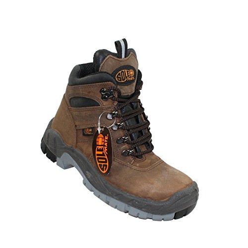 Chaussures de sécurité s3 hRO sole mate berufsschuhe businessschuhe chaussures de trekking-marron Marron