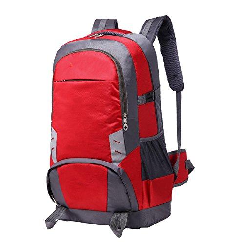Yy.f Neu Große Kapazität 70L Sport Bergsteigen Taschen Outdoor-Rucksack Reisetaschen Lässig Student Taschen Beutel Mehrzweck-Sport. Multicolor Red