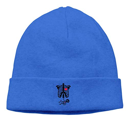 (Fashion Unisex Hip hop Hip-Hop Knitted Hat Mens Womens Skeleton Pregnant Unisex Cuffed Plain Skull Knit Hat Cap Head Cap)