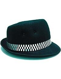 Krung Thai Ska Porkpie Sombrero Negro clásico (Varios tamaños Pequeño ... 21dd1ec7c6d