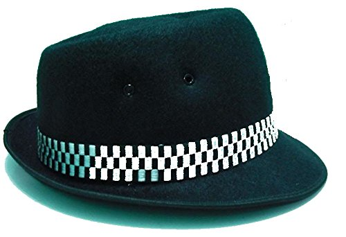 Ska Porkpie Hat Classic Black (Various Sizes Small - XL) (Large)