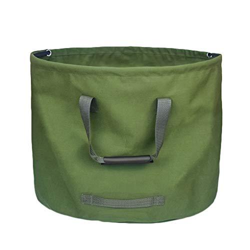 *Kongnijiwa Garten-Blätter Tasche zusammenklappbarer Leinwand Wiederverwendbare Gartenwasserdicht Blatthalter Abfallsack Yard-Tasche*
