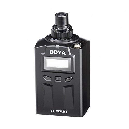 BOYA BY-WXLR8 Transmetteur Audio Plug-on XLR avec Ecran LCD pour BY-WM8 BY-WM6 Système de Micro Cravate Sans Fil et Microphone XLR 3 broches