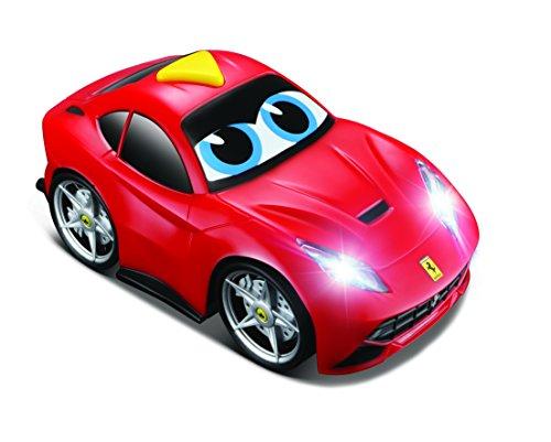 BB Junior Ferrari Light and Sound: Spielzeugauto F12 Berlinetta mit Freilauf-Funktion, mit Licht und Motorengeräuschen auf Knopfdruck, rot (16-81003)