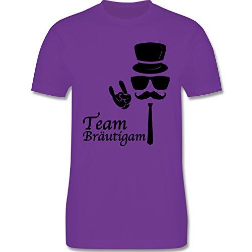 JGA Junggesellenabschied - Team Bräutigam Hipster Suit up - Herren Premium T-Shirt Lila