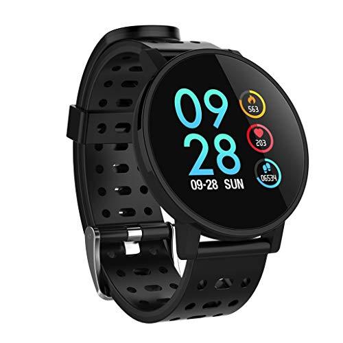 Vamoro Fitness Tracker, 1,3 '' Herzfrequenzaktivität Schritt Kalorien Smartwatch Armband Fitness Armband mit Pulsmesser für Kinder, Frauen, Männer(Schwarz)
