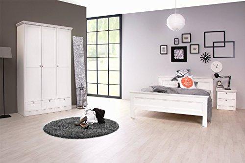 Schlafzimmer STOCKHOLM komplett Landhausstil in weiß