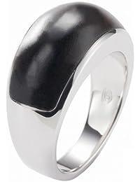 Fossil Damen-Ring 925 Sterling Silber mit Holz Gr. 17  JF15270040