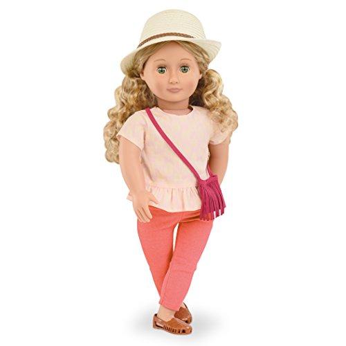 Our Generation BD31095 - OG - Brielle Puppe Fransen, Hut und Geldbörse, 46 cm -