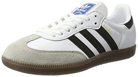 adidas Unisex-Erwachsene Samba Sneakers, Weiß (Footwear White/Core Black/Clear Granite), 42 2/3 EU