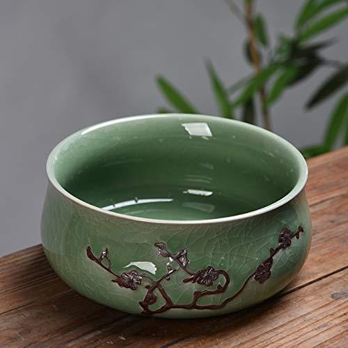 duxiaoxiaoxiao Vintage Teeschale Keramik Aquarium Tee-Set Zubehör Garten Blumentopf Topfpflanze Bonsai Dekoration Garten Tee-set