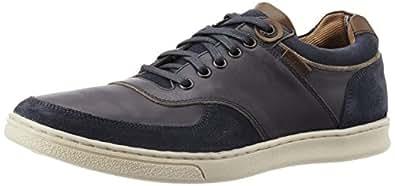 Levi's Men's Tulare Pt Toe Cap Low Lace Navy Leather Sneakers - 10 UK/India (44 EU)