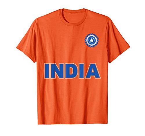 Indische Cricket (Orange Kit) T-Shirt